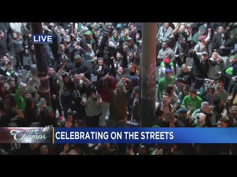 Celebrating In The Streets: Eagles Fans Take Over South Philly