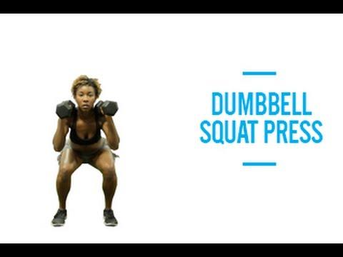 Dumbbell Squat Press
