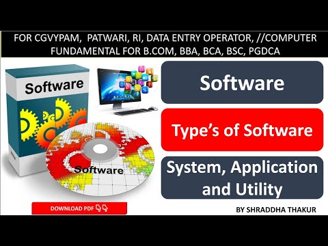 Computer Software | कंप्यूटर सॉफ्टवेयर | System Software | Application Software | Utility Software