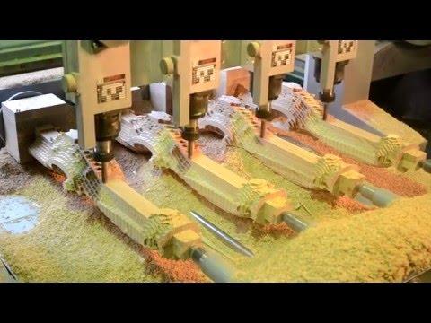 (Андис-техно) 4-х координатная фрезеровка массива дерева на ЧПУ станке