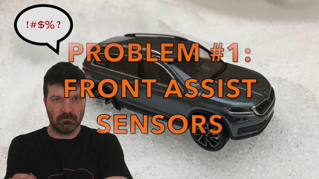 vw front assist sensor location