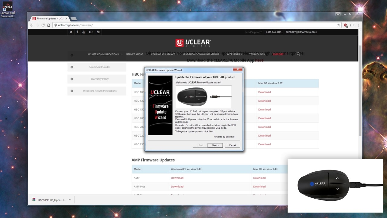 Firmware Updates - UCLEAR Digital