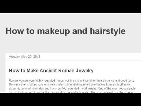 How-To Make Ancient Roman Jewelry - YouTube