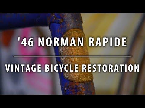 1946 Norman Rapide - Last of it's kind? - Intro - Vintage Bicycle Restoration