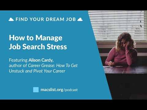 Ep. 086: How to Manage Job Search Stress, with Alison Cardy