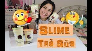 🤤Trải Nghiệm làm Slime Trà Sữa Trân Châu🤤 Không uống được nhưng chơi được😂