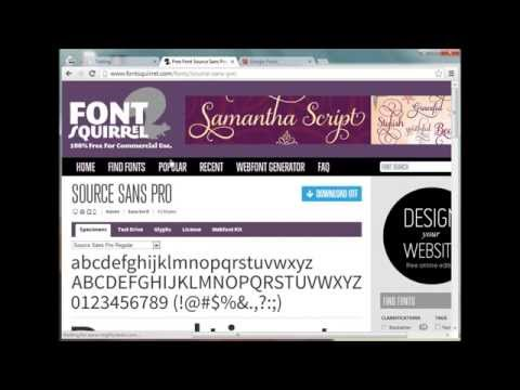 Web Fonts Using CSS Font Face
