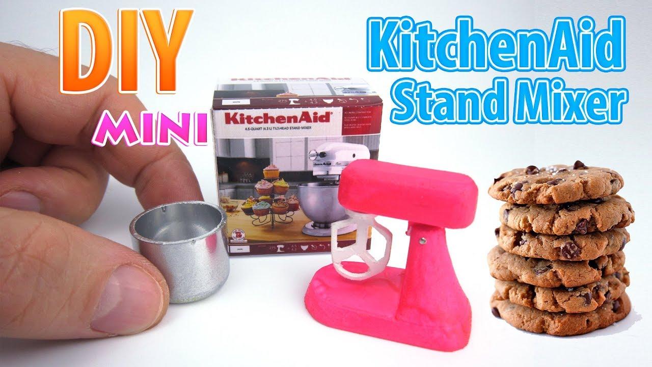 Dollhouse Miniatures Blender Mixer Kitchenaid Machine Tiny Barbie Supply Set Lot