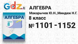 № 1101-1152 - Алгебра 8 класс Макарычев