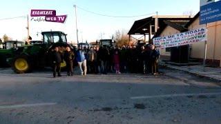 Μπλόκο αγροτών στο Τελωνείο Δοϊράνης-Eidisis.gr webTV