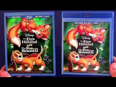 The FOX and the HOUND blu-ray unboxing review from Disney