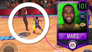 *RARE CARD* 101 POINT GUARD LEBRON JAMES GAMEPLAY IN NBA LIVE MOBILE 20!!!