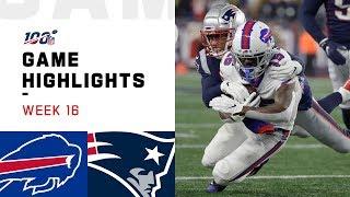 Bills vs Patriots Week 16 Highlights  NFL 2019