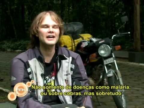 Tobias Dreissig Interview TV Manaus FINK POR DENTRO Südamerikareise per 125 ccm Motorrad