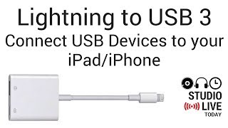 Gambar cover Lightning to USB 3 Adapter - Connecting USB Devices to an iPhone/iPad (GarageBand iOS)