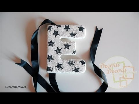 C mo hacer letras para decorar youtube - Letras para decorar paredes ...