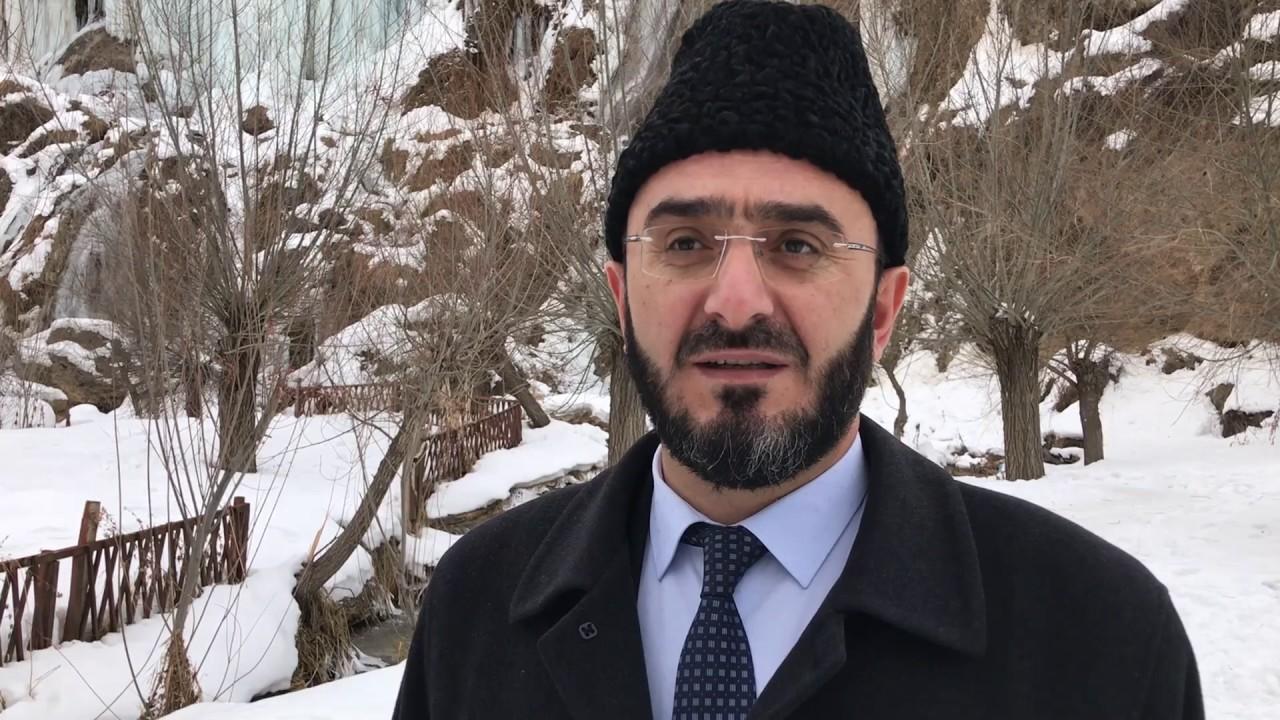 Erzincan İl Müftüsü Yavuz Karabayır Girlevik Şelalesinde açıklamalarda bulundu