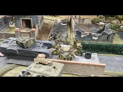Bolt Action Battle Report USMC Iwo Jima vs Finland Sissi