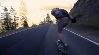 Legendary Skate Run On A Mountain Road