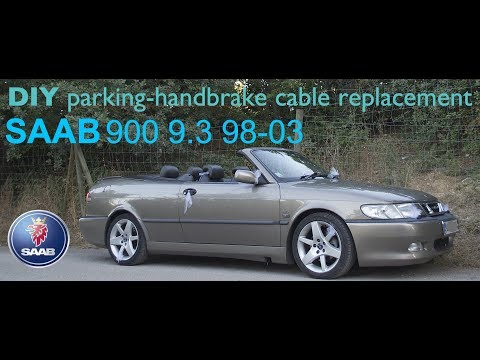 DIY SAAB 900ng 9.3 HANDBRAKE CABLE REPLACEMENT