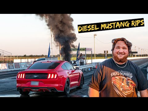 The Cummins Mustang Takes on Drag Strip