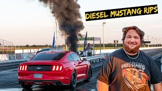 The Cummins Mustang Takes on Drag Strip