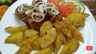 Быстрый рецепт ужина картошка с курицей в рукаве в духовке