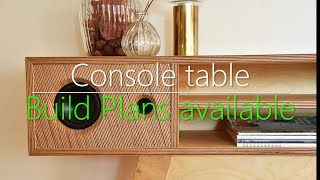 Console table with bluetooth speakers // #rocklerplywoodchallenge
