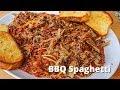 BBQ Spaghetti Recipe   Memphis Style Barbecue Spaghetti with Pulled Pork