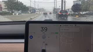 Auto-Pilot in a rain storm
