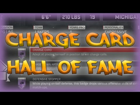 NBA 2K17 - CHARGE CARD Hall of Fame! (Lockdown Defender/Paint Protector)