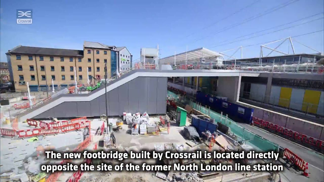 Crossrail Shorts New Custom House Footbridge Opens To The Public Youtube