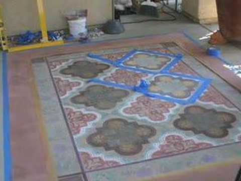 Faux Finished Outdoor Concrete Rug Concretenetwork Com Youtube