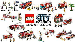 Lego City Fire Trucks Compilation of all Sets 2005 - 2016 - Lego Speed Build Review