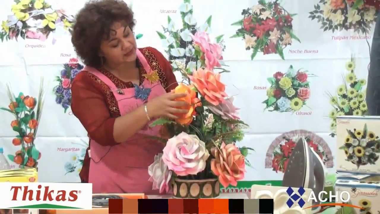 Rosas Moldes De Flores Para Hacer Arreglos Florales En Fomi Goma Eva Hd
