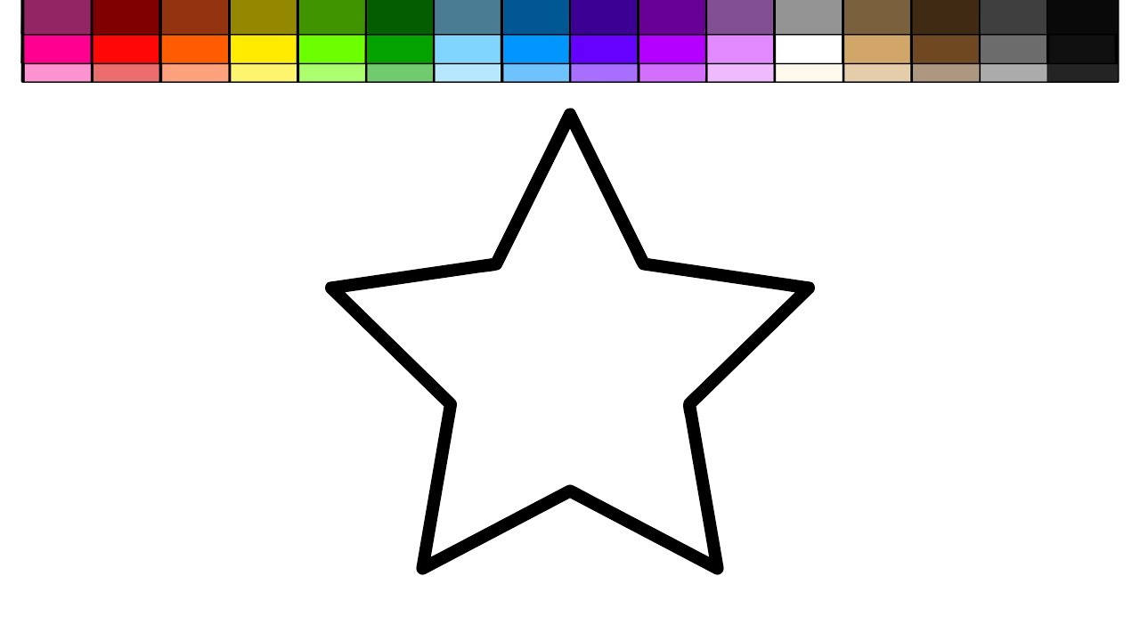 star coloring pages for toddlers - photo#21