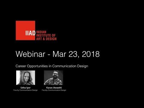 IIAD Webinar on Career Opportunities in Communication Design