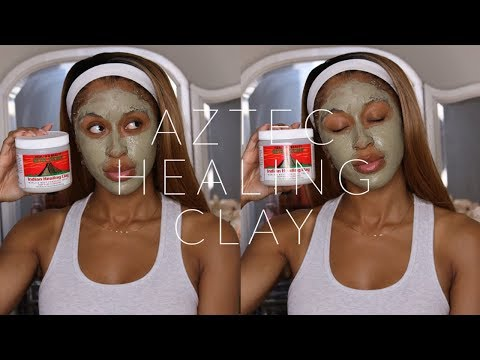 Aztec Healing Clay Mask Review + Demo | WORLD'S MOST POWERFUL FACIAL MASK!??