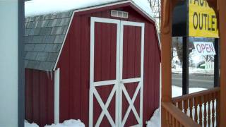 Storage Sheds, 8x8 Wood 4' Mini Barn, Wooden Shed, Virginia, Va