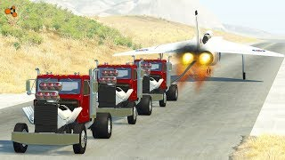 Beamng drive - Tug of War vs. Plane Crashes #2