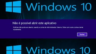 Erro Conta de Administrador Interno Windows 10