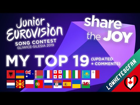Junior Eurovision 2019 - My TOP 19 (updated + Comments!) - Lowkeyescfan