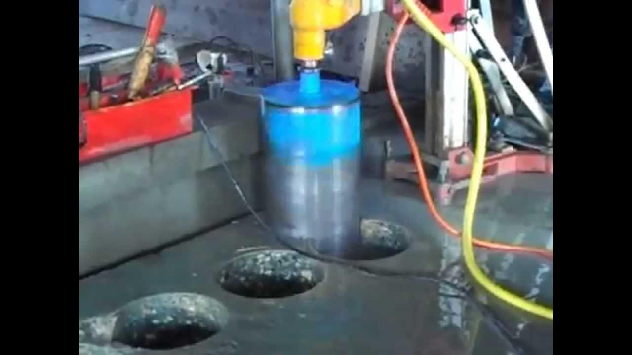 Voorkeur Beton boren - Diamo betonboor en zaagtechniek - YouTube FX61