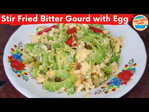 Stir Fry Bitter Gourd with Egg