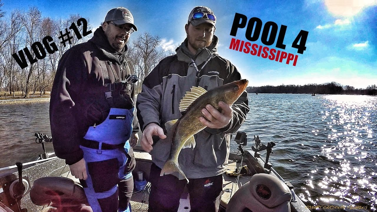 Vlog 12 pool 4 walleye and sauger fishing on the for Pool 4 mississippi river fishing report