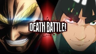 All Might vs Might Guy (My Hero Academia VS Naruto) | DEATH BATTLE