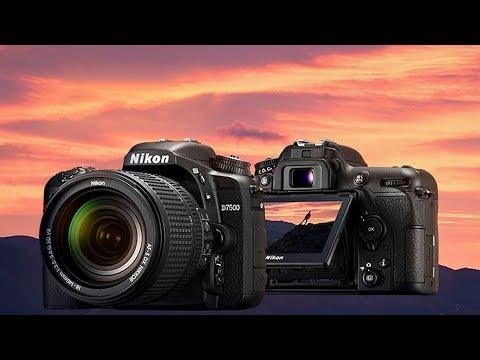 Зеркальная фотокамера Nikon D7500 среднего уровня