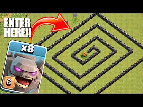Thumbnail: YOU WONT BELIEVE THIS🔸GOLEM MAZE WITHOUT LOOKING🔸Clash of clans troll raids