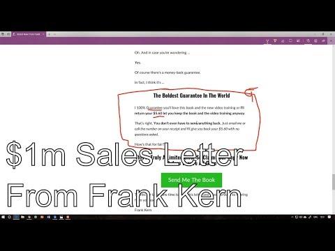 Anatomy of a $1million Frank Kern sales letter