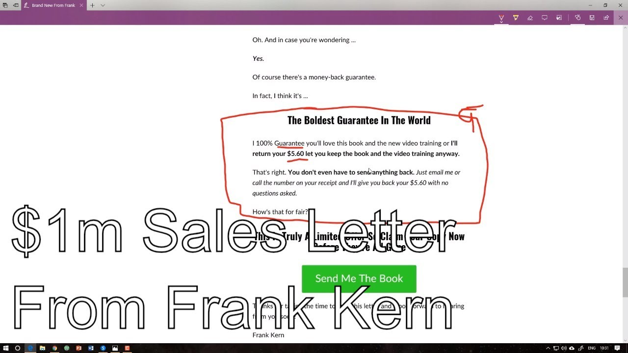 Anatomy Of A 1million Frank Kern Sales Letter